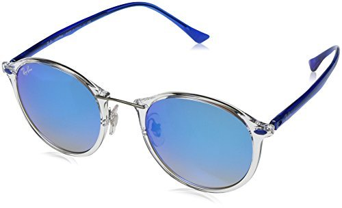 RAYBAN JUNIOR Unisex-Erwachsene Sonnenbrille RB4242 Transparent/Browngradientmirrorsilver, 49