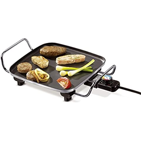 Princess 102210 - Plancha Grill mini, color negro grisáceo