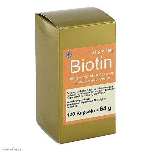 Natur Aus Biotin (BIOTIN 1x1 pro Tag Kapseln 120 St Kapseln)