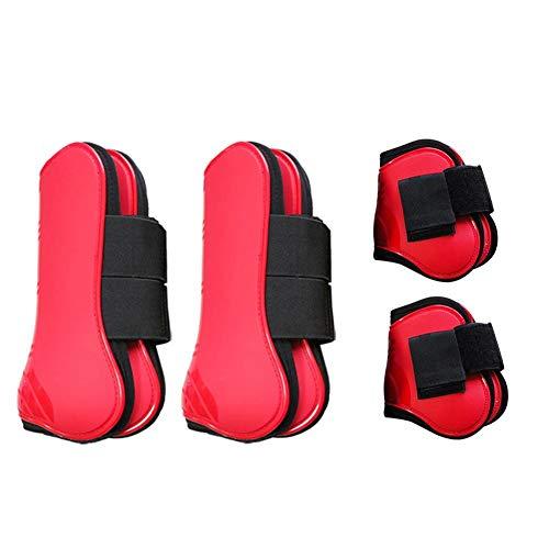 Corwar 4PCS Extrem belüftete Sportstiefel, verhindern das Verrutschen von natürlichen Horse Fly Stiefeln,verhindern Beschädigungen und verringern das Risiko von Bandschäden,Horse Tendon Boots Applied -