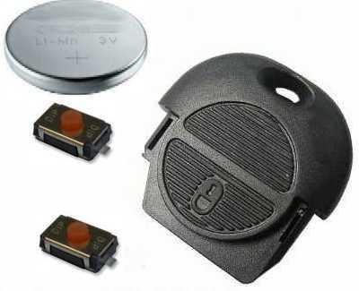 DIY - Kit Réparation pour Nissan Nats 2 Bouton Télécommande Clé Remise à Neuf