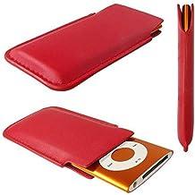 caseroxx funda tipo estuche para Apple iPod Nano 4G/5G de cuero artificial - Funda protectora para el smartphone (estuche en rojo)