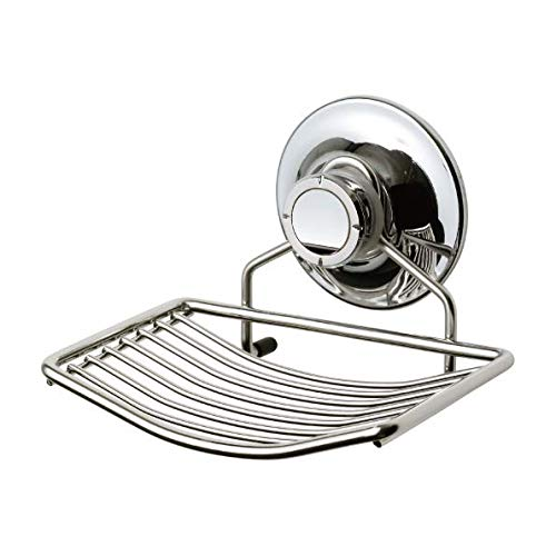 Seifenschale Saugnapf Edelstahl Halter mit starkem Vakuum-Saug für Badezimmer, Dusche, Küche - Saug-halter Dusche