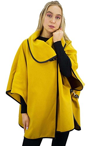 Comfiestyle - Poncho - Cape - Femme moutarde