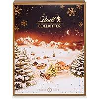 Lindt Edelbitter Adventskalender 2021 | 250 g Dunkle Schkolade | Edelbitterschokolade als Schokoladen-Geschenk