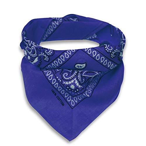 Oramics Bandana Kopftuch Halstuch gemustert in 24 verschiedenen Farben! (königsblau)