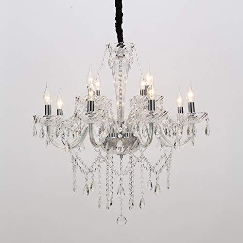 Schattierungen Von Licht Kerze (Kronleuchter Licht Schattierungen Decke Schlafzimmer Kristall Licht Kerze Deckenlicht (8 plus 4 Köpfe))