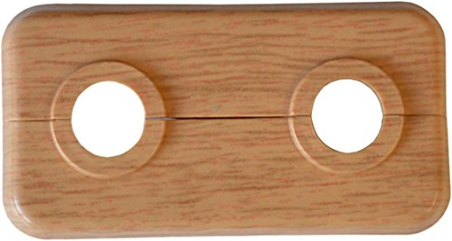 sanicomfort Doppel-Klapprosette Eiche 18 mm, 50 mm Rohrabstand, 1845942