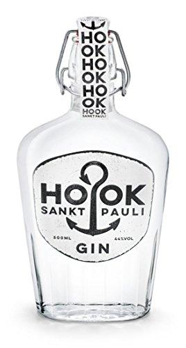 HOOK Gin / kräftiger Dry Gin direkt aus Hamburg Sankt Pauli mit 6 klassischen Zutaten - stark wie ein Seemann mit 44{6df47f4878646746773002aa353e5172d9fa5942dc6bd1f9a4e77675e4535795} - 500ml