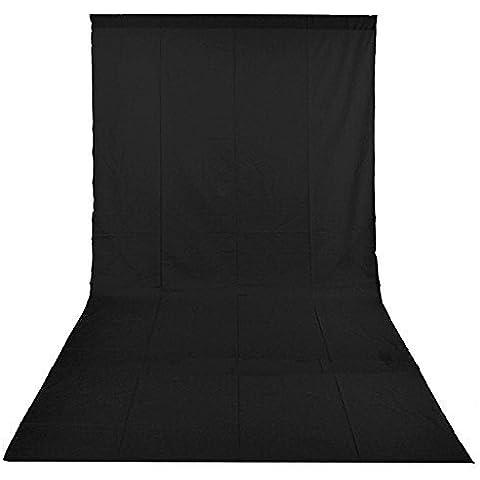 PMS®3 x 6m negro 100% Pura Muselina algodón Fondo para Estudio fotográfico para Fotografía,