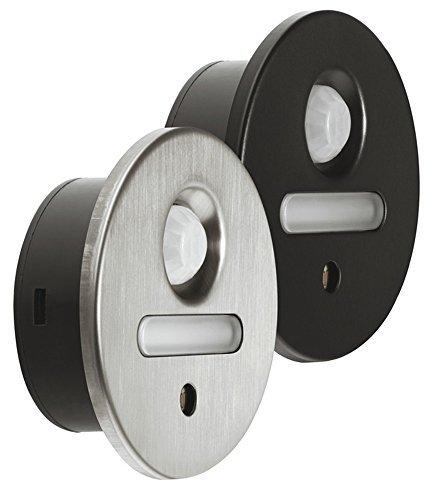 Möbel-Sockelleuchte LED-Einbauleuchte rund Unterbauleuchte Edelstahl schwarz - Loox 2028 | Möbelleuchte sensorgesteuert - 12V | Anbauleuchte warmweiß 2700 K | Energieeffizienzklasse A+ | Möbelbeschläge von GedoTec®