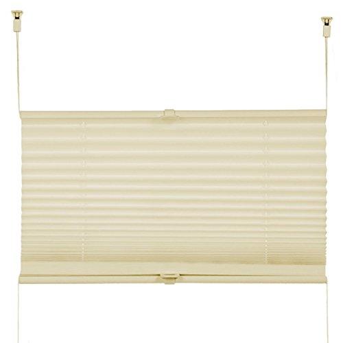 Plissee Rollo Sonnen- und Sichtschutz Klemmfix, ohne Bohren Breite 70 cm Höhe 130 cm in Gelb - 3