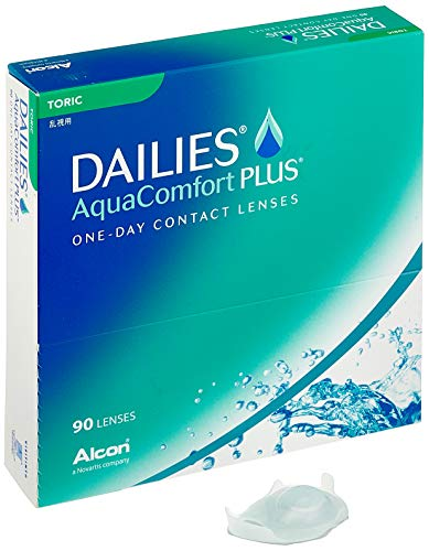 Alcon DAILIES AquaComfort Plus Toric Tageslinsen weich, 90 Stück / BC 8.8 mm / DIA 14.4 mm / CYL -0.75 / ACHSE 90 / -0.25 Dioptrien