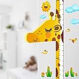 DUOUPA Tableau de Croissance Girafe Règle Graduée pour Toise 3D Support Ecriture Taille Appuie-Tête Amovible EVA Portable Stickers Autocollants Muraux Chambre d'Enfants