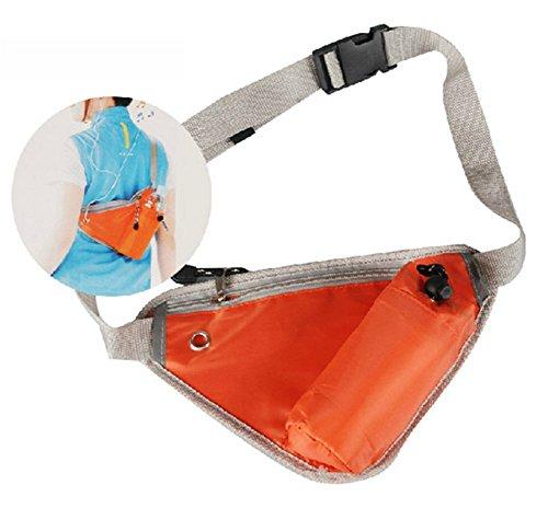 Chytaii Herrn Bergsteigen Gürteltaschen Outdoor-Sport Tasche mit Flaschenhalter für Laufen ,Wandern, Bergsteigen,Fahrradfahren, klettern Orange