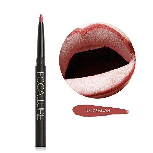 Blue Vessel Permanent Wasserdichte Lip Liner Bleistift Lippenstift Lipgloss Schönheit (6#)