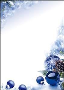 sigel dp034 weihnachtsbriefpapier blue harmony a4 100. Black Bedroom Furniture Sets. Home Design Ideas