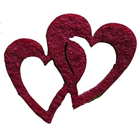 Petra S bastel News a-hedf5704–29strame decorazione, 50x doppio cuore 40mm,