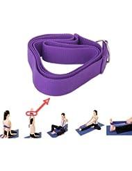 FamilyMall - Correa para yoga y pilates (algodón, 170 cm)
