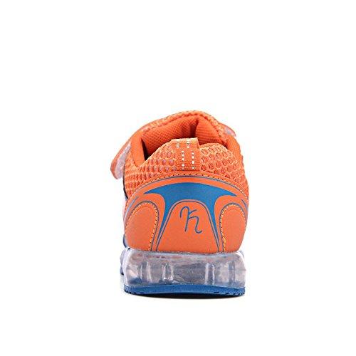 [Kinder Led Schuhe] Kidslove Led schuhe kinder LED Sportschuhe Kinder USB Aufladen 7 Lichtfarbe Leuchtend Kinderschuhe PU Sneaker Turnschuhe für Jungen Mädchen Dunkelblau