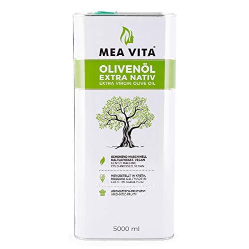 MeaVita Olivenöl, extra nativ & kaltgepresst, 1er Pack (1x 5000 ml) im Kanister