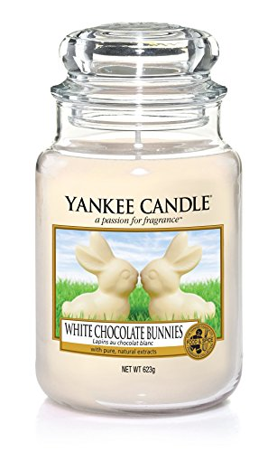 Yankee Candle White Chocolate Bunnies Jar, Cream, 10.7 x 10.7 x 16.8 cm