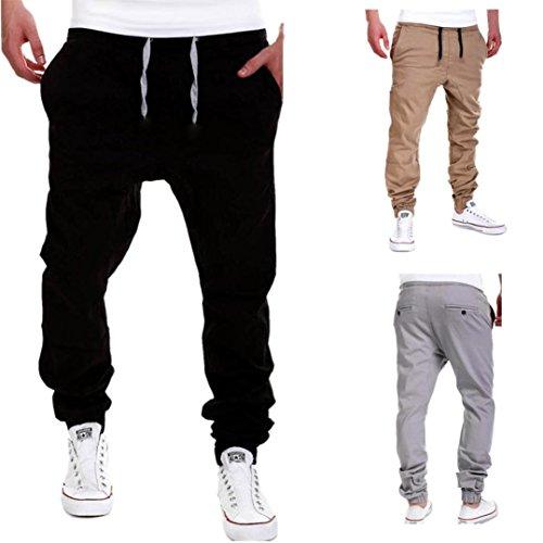 Amlaiworld Pantalones de Chándal de Hombres Pantalones de Deporte Pantalones  Jogger Casuales para Hombre c0facecf9e4f