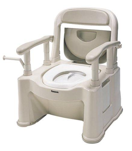 パナソニック ポータブルトイレ 座楽 背もたれ型SP ベージュ VALSPTSPBE