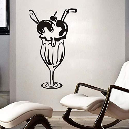 Knncch Kirsche Eis Glas Moderne Aufkleber Restaurant Aufkleber Poster Vinyl Klebstoff Wandtattoo Kunst Decor Wandbild Kuchen Aufkleber Abnehmbare