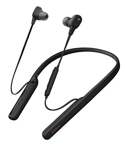 Oferta de Sony WI1000XM2 - Auriculares Inalámbricos Noise Cancelling (Bluetooth, Sonido Adaptativo, Compatible con Alexa, Soporte Cuello de Silicona, 10h Batería, Llamadas Manos Libres), Negro