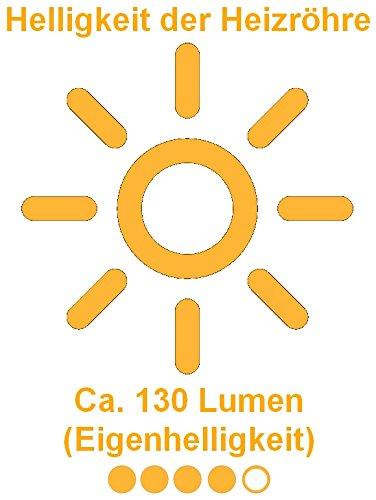 Aktobis Decken-Heizstrahler, Balkonheizer, Zeltheizer WDH-200LS (Schwarz + bis 2.000 Watt + LED Lampe) - 4