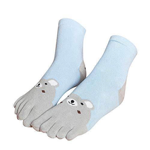 XuxMim Winterkinder Animal Patchwork Zehensocken Five Finger Socks -