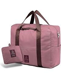 SPAHER Bolsa de Equipaje Bolsas de Viaje Plegable Duffle Bag Ligero  Impermeable Organizador de Hombro de 1ab2db008b603