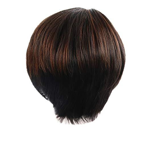 Lange Haare Perücke,Rifuli®Perücken Kurze Bob Cut Perücke Gerade Frauen Perücke Haar synthetische cosplay perücken wig haarteil