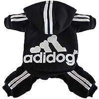 Scheppend Adidog Mascota Ropa para Perro Gato Perrito Sudaderas con Capucha Coat Primavera otoño & Invierno Sudadera