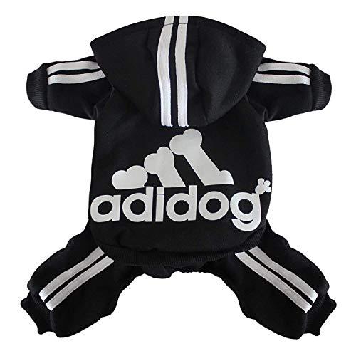 Scheppend Adidog Mascota Ropa para Perro Gato Perrito Sudaderas con Capucha Coat...