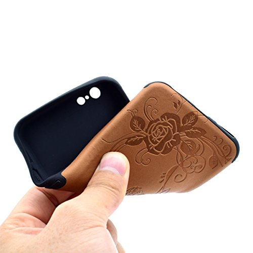 Custodia inShang cover per iPhone 7 4.7 Cellulare,super slim e leggero TPU materiale Cover posterior stili per iPhone7 4.7 inch + inShang Logo pennino di alta classe Brown butterfly flower