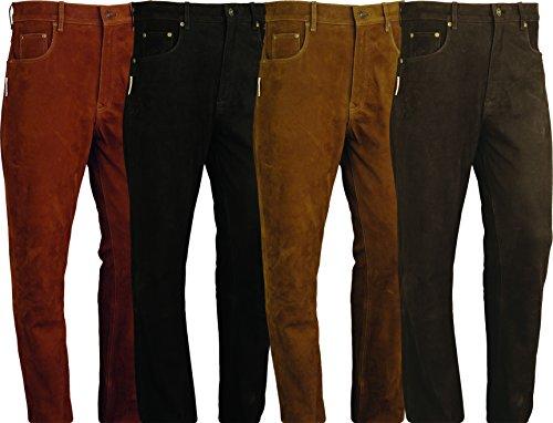 Pantalones de cuero de corte bootcut unisex, deportivos, varios colores disponibles dorado marrón claro 42