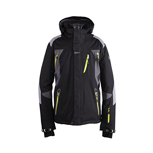 Killtec Herren Skijacke Ski Jacke LLOYD schwarz / anthrazit, Größe:L | 04054349342723