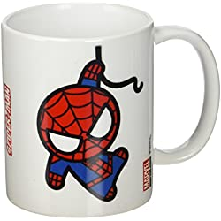 Marvel Kawaii Spider-Man Taza de cerámica, multicolor