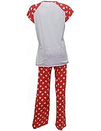 Ladies Womens Disney Snow White Grumpy Pyjamas Short Sleeved 8 - 22