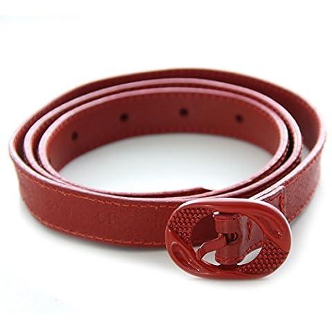 DIESEL ceinture en cuir femme SWEETO rouge - taille 90