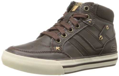 Skechers Boys' Planfix Cogent Low-Top Sneakers Brown Size: 2 UK