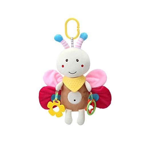iStary Baby Spielzeug Multifunktionale Bett Hängende Beißring Beschwichtigen Puppe Welpen Kaninchen Jingle Puppe Kinderwagen Hängende Baby Spielzeug Ab 0 Monate
