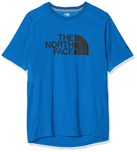THE NORTH FACE Herren Wicker Graphic T-Shirt mit Rundhalsausschnitt, Bomber Blue Heather, S -