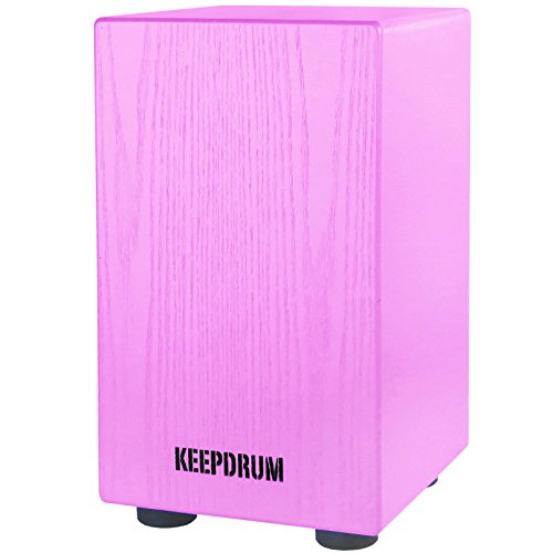 KEEPDRUM DC1M PK Junior Cajon für Kinder Pink Trommel-Hocker