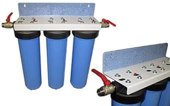 Eisenfilter 20 Spezial 20 Eisenfilter Zoll Hauswasseranlage 3 stufig: Amazon  369404