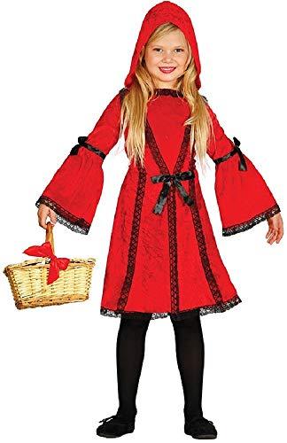 Fancy Me Mädchen-Kostüm, traditionell, Rotkäppchen, Weltbuch/Woche/Märchen-Kostüm, 3-9 - Traditionelle Märchen Kostüm