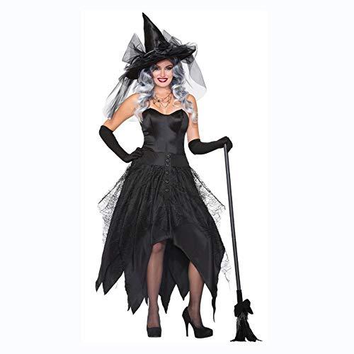 �m Damen, Halloween Kostüm Hexenkostüm Erwachsene Rolle Spielen Hexe Leistung Cosplay Kostüm ()