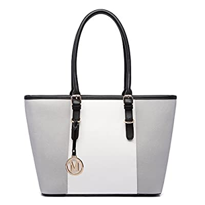 Miss LuLu Women's ladies Designer Celebrity Tote Bags Faux Leather Style Shoulder Shopper Handbags Adjustable Handles